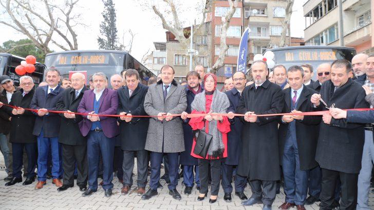 Yenilenen Bursa Otobüslerinin Açılışı Yapıldı