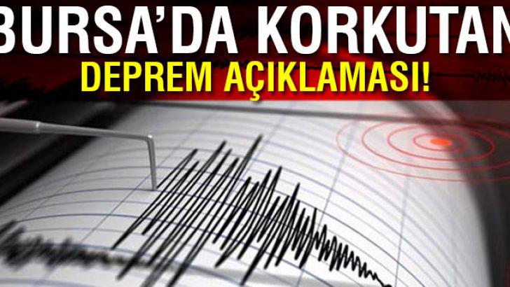 Jeofizik Mühendisi Yrd. Doç. Dr. Gündoğdu'dan Bursa'da kritik deprem açıklaması !