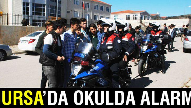 Bursa'da jandarmadan okul önlerinde sıkı denetim