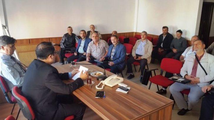 Müftü Şavlı Camii Dernek Başkanlarıyla İstişare Toplantısı Yaptı