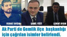 Ak Partide  İlçe Başkanı adayları belirlendi